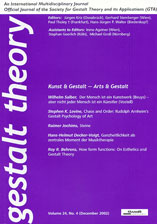 Gestalt Theory: Society for Gestalt Theory and its Applications (GTA